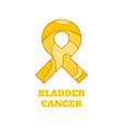 bladder cancer awareness papercut ribbon vector image vector image