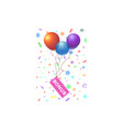 bonus text with balloon vector image vector image