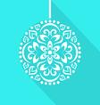 christmas ball card vector image vector image