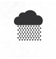 cloud with heart rain drops vector image