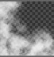clouds white fog smog on transparent background vector image vector image