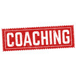 coaching grunge rubber stamp vector image vector image