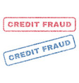 credit fraud textile stamps vector image vector image
