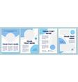 dark blue modern brochure template vector image vector image