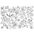 Doodle set of sea vector image