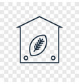 eco home concept linear icon isolated on vector image