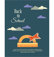 Education with clouds and ruler vector image vector image