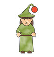 elf girl icon vector image