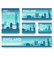 England landscape banners set vector image
