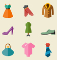 Fashion color icon set vector image vector image