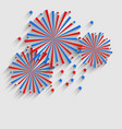 Firework Colorized in Flag US for Celebration vector image