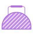 fitness bag icon flat style vector image vector image