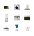 Flat icons for home equipment vector image vector image