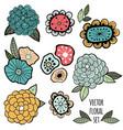 flower graphic design vector image