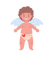 funny cupid character with wings in underwear vector image vector image