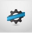 gear logo industry symbol logo motor sport logo vector image vector image