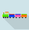 german train toy icon flat style vector image