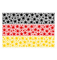 germany flag pattern of confetti star items vector image vector image