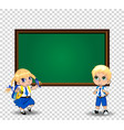 girl and boy schoolkids pupils in uniform vector image vector image