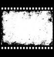 grunge filmstrip vector image