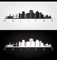 halifax skyline and landmarks silhouette vector image vector image