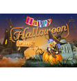Happy Halloween party witch background vector image vector image