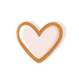 heart shaped cookie made of gingerbread pastry vector image