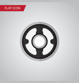isolated pulley flat icon belt element can vector image vector image