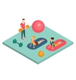 Isometric Gym Workout Flat vector image