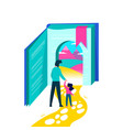 kids education concept of book story imagination vector image