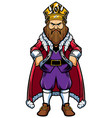 king standing on white vector image vector image