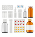 medical pills healthcare capsule antibiotic vector image vector image
