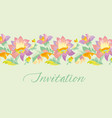pale color tender flower naive pattern vector image