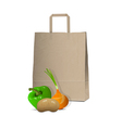 Paper bag and fresh vegetables vector image vector image