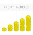 Profit increase money vector image