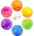 Rainbow watercolor circles vector image vector image