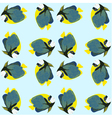 Seamless pattern from swimming fishes vector image vector image