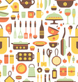 Seamless pattern of kitchen utensils vector image vector image