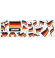 set national flag germany vector image