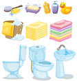 Set of bathroom equipments vector image
