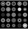 set of different tribal rosette tattoo design vector image vector image