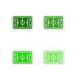 Set of paper stickers on white background football vector image vector image