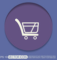 shopping cart icon vextor vector image vector image