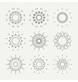 Simple monochrome geometric abstract symmetric vector image vector image
