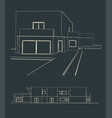 sketch of a modern house vector image vector image