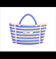 striped beach bag vector image vector image