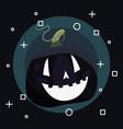 sweet happy halloween day vector image vector image