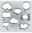 Text balloons vector image