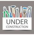 Tools drawing - under construction vector image vector image