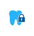 tooth security logo icon design vector image